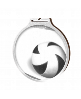 Habitat Classic Volleyball Silver Eco Friendly Wooden Medal