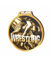 Habitat Classic Wrestling Gold Eco Friendly Wooden Medal