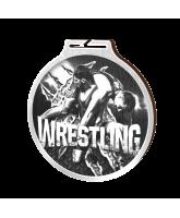 Habitat Classic Wrestling Silver Eco Friendly Wooden Medal
