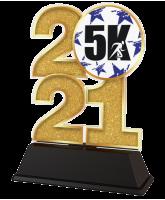 Running 5K 2021 Trophy