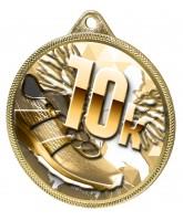 10k Running Texture Classic 3D Print Gold Medal