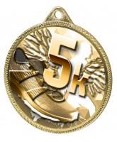 5k Running Texture Classic 3D Print Gold Medal