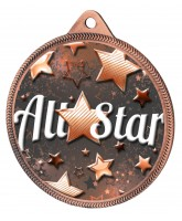 All Star Classic Texture 3D Print Bronze Medal