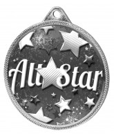 All Star Classic Texture 3D Print Silver Medal