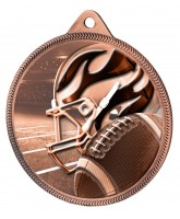 American Football Classic Texture 3D Print Bronze Medal