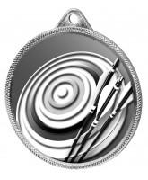 Archery Classic Texture 3D Print Silver Medal