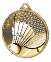 Badminton Classic Texture 3D Print Gold Medal