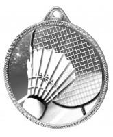 Badminton Classic Texture 3D Print Silver Medal