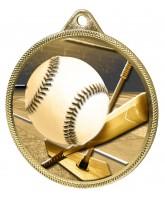 Baseball Homerun Classic Texture 3D Print Gold Medal