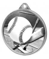 Baseball Homerun Classic Texture 3D Print Silver Medal