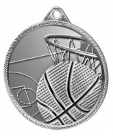 Basketball Classic Texture 3D Print Silver Medal