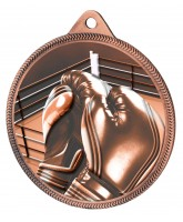 Boxing Classic Texture 3D Print Bronze Medal
