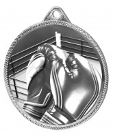 Boxing Classic Texture 3D Print Silver Medal