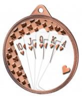 Cards Royal Flush Classic Texture 3D Print Bronze Medal