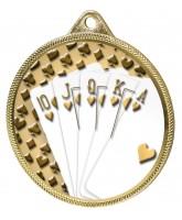 Cards Royal Flush Classic Texture 3D Print Gold Medal