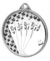 Cards Royal Flush Classic Texture 3D Print Silver Medal
