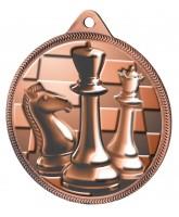 Chess Classic Texture 3D Print Bronze Medal