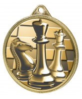 Chess Classic Texture 3D Print Gold Medal