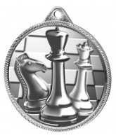 Chess Classic Texture 3D Print Silver Medal