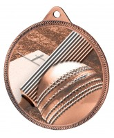 Cricket Classic Texture 3D Print Bronze Medal