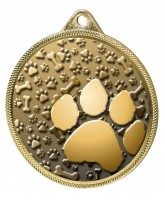 Dog Paw Classic Texture 3D Print Gold Medal