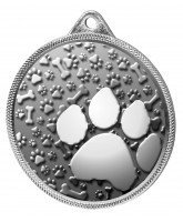 Dog Paw Classic Texture 3D Print Silver Medal