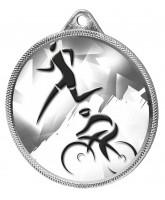 Duathlon Classic Texture 3D Print Silver Medal