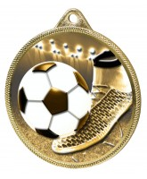 Football Boot and Ball Classic Texture 3D Print Gold Medal