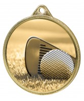 Golf Classic Texture 3D Print Gold Medal
