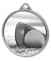 Golf Classic Texture 3D Print Silver Medal