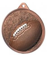 Gridiron Football Classic Texture 3D Print Bronze Medal