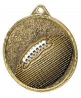 Gridiron Football Classic Texture 3D Print Gold Medal