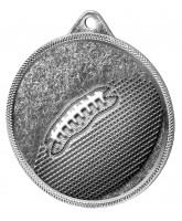 Gridiron Football Classic Texture 3D Print Silver Medal