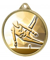Gymnast Boys Silhouette Classic Texture 3D Print Gold Medal