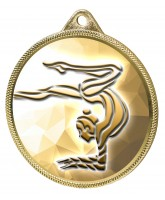 Gymnast Girls Silhouette Texture 3D Print Gold Medal