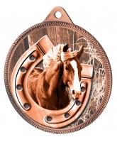 Horseshoe Equestrian Classic Texture 3D Print Bronze Medal