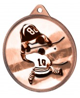 Ice Hockey Classic Texture 3D Print Bronze Medal