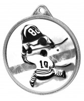 Ice Hockey Classic Texture 3D Print Silver Medal