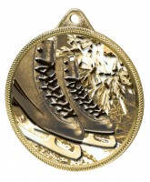 Ice Skating Boots Black Classic Texture 3D Print Gold Medal