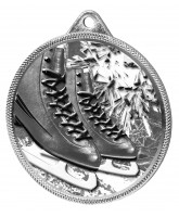 Ice Skating Boots Black Classic Texture 3D Print Silver Medal