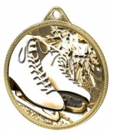 Ice Skating Boots White Classic Texture 3D Print Gold Medal