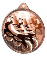 Inline Skating Classic Texture 3D Print Bronze Medal