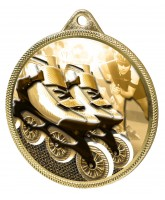 Inline Skating Classic Texture 3D Print Gold Medal