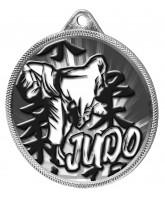 Judo Classic Texture 3D Print Silver Medal