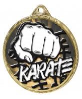 Karate Classic Texture 3D Print Gold Medal