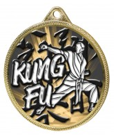 Kung Fu Classic Texture 3D Print Gold Medal
