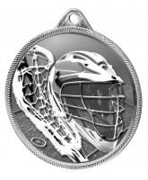 Lacrosse Classic Texture 3D Print Silver Medal