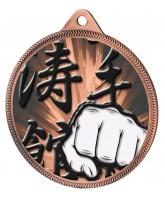 Martial Arts Fist Classic Texture 3D Print Bronze Medal