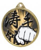 Martial Arts Fist Classic Texture 3D Print Gold Medal