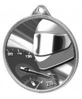 Motor Racing Classic Texture 3D Print Silver Medal